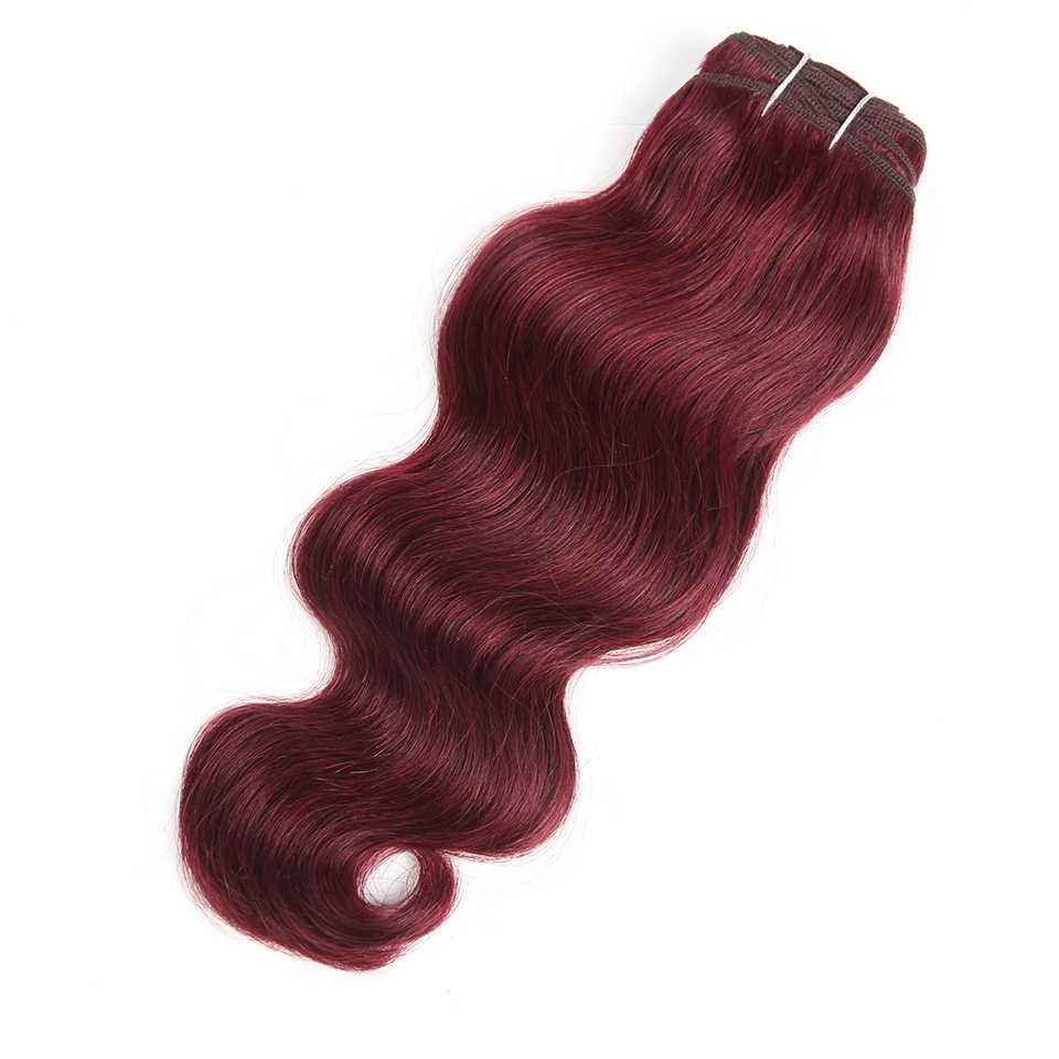 Rebecca бразильские натуральные волнистые волосы 1 пучок окрашенных #27 #30 # 99J # бордовый красный Remy человеческие волосы для наращивания 10-22 дюйма