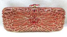 Freies verschiffen!! A15-41, rot farbe mode top kristallsteinen ring handtaschen für damen nette parteibeutel