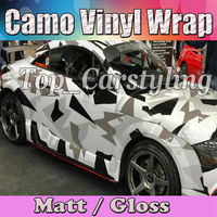 Large Pixel Dazzle Camouflage Car Wrap VINYL Film Air Bubble Free Vehicle Boat CAMO Covering Styling