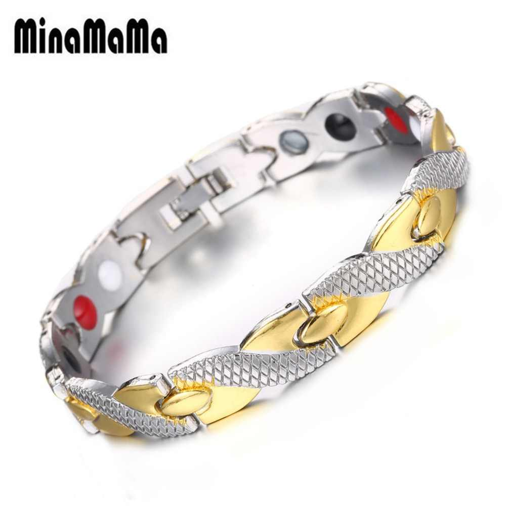 Twisted Dragon Design Copper Health Magnetic Bracelet For Woman Men Energy Negative Ion Arthritis Therapy Care Male Bracelet
