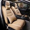 (Frente + Traseira) especial tampas de assento do carro de Couro Para Skoda Fabia Octavia Superb Yeti Rápida Spaceback Joyste Jeti auto acessórios