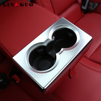 ABS Chrome Rear Row Cup Holder Frame Cover Trim Auto Interior Accessories For Alfa Romeo Giulia 2017 Car-styling