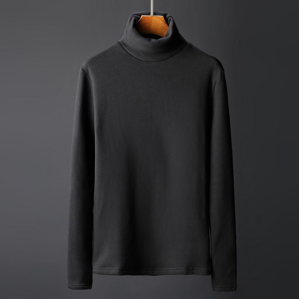 Under shirt England Style turtleneck mens Sweters gentleman winter Slim Pullover Warm shirt Cotton T-shirts thermal underwear