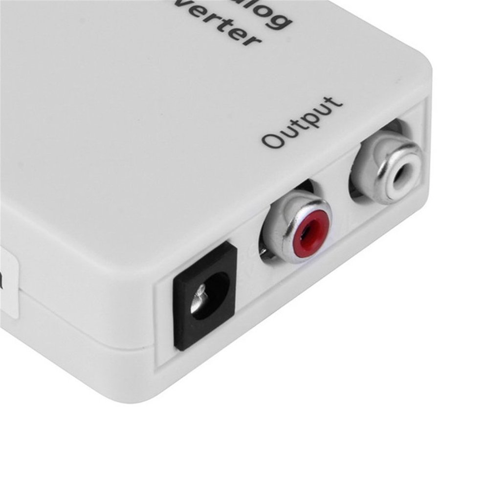 10PCS White Compact Digital Optical Toslink Coax to Analog R/L/RCA Audio Signal Converter Adapter with USB Power Cable
