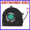 Cpu del ordenador portátil ventilador de refrigeración AB7905MX-EB3 DC 5 V 0.4A reemplazo por Toshiba Satellite A660 A660D A665 A655D L675 Satellite L675D ventiladores del enfriador