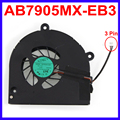 Laptop CPU Cooling Fan AB7905MX-EB3 DC 5V 0.4A Replacement For Toshiba Satellite A660 A660D A665 A655D L675 L675D Cooler Fans