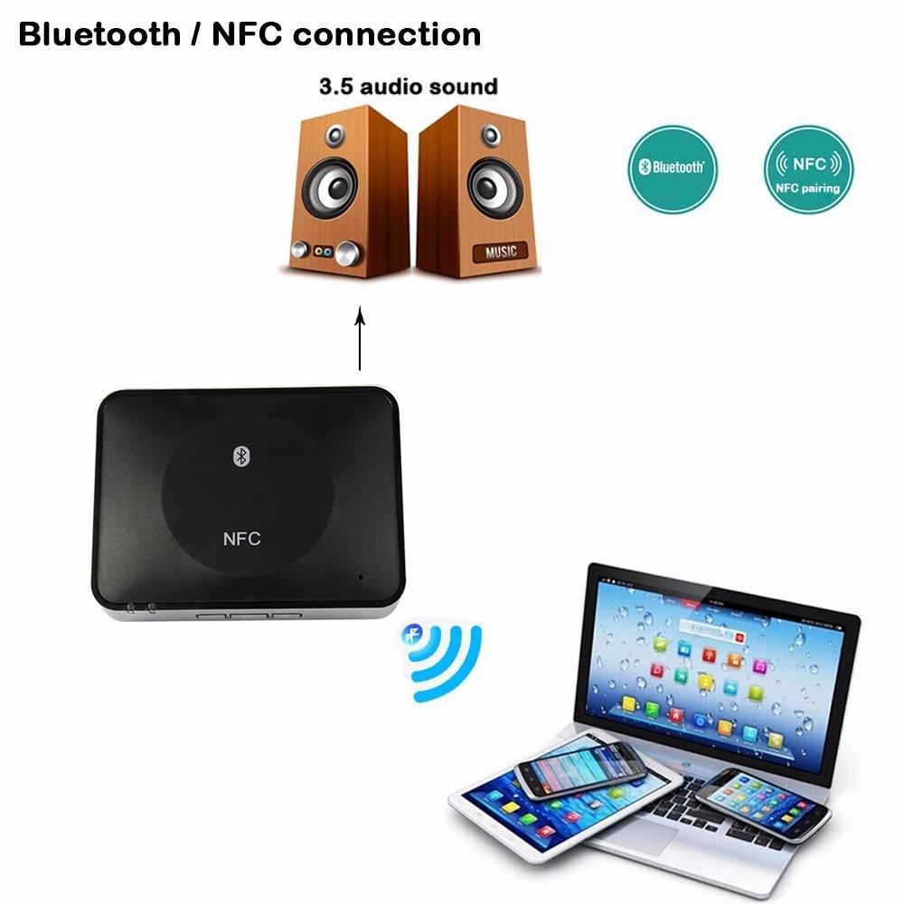 NFC Bluetooth Wireless Desktop Stereo Audio Music Receiver DVD Player Car Speaker USB Adapter  (15)