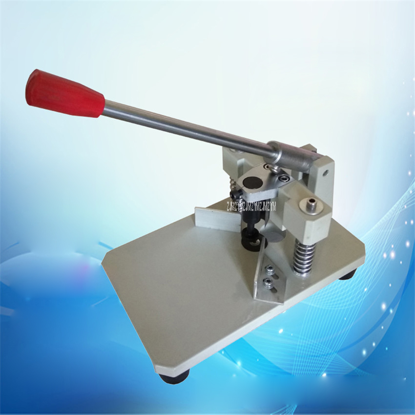 With a presser foot knife round knitting machine manual cut round angle machine album  business card  with double knife  R6, R10 morais r the hundred foot journey