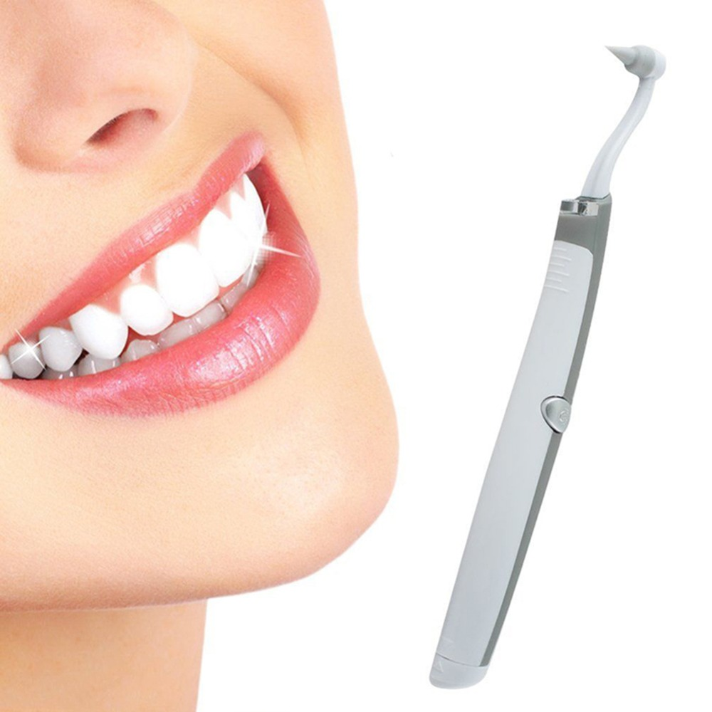 2018 New Electric Sonic Pic Tooth Stain Eraser Plaque Remover Dental Tool Kit Teeth Whitening Dental Cleaning System