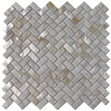 6-Pack White Mother of Pearl MOP Shell Tile for Shower Wall, 12″ x 12″ Groutless Subway