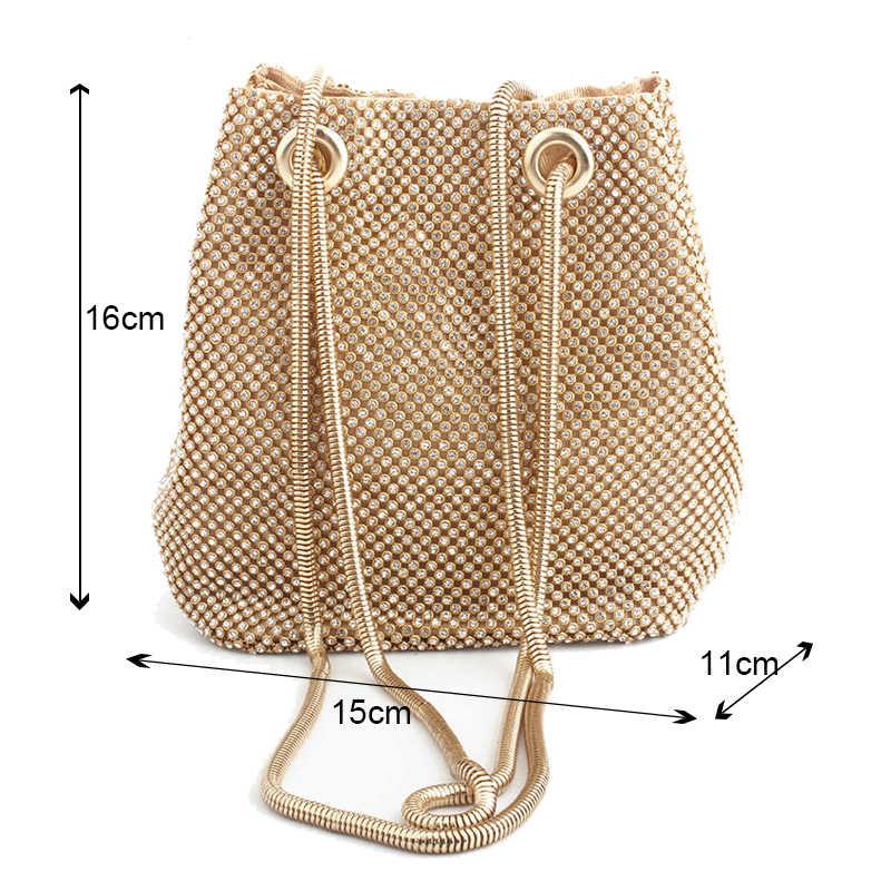 クラッチイブニングバッグ高級女性バッグショルダーバッグダイヤモンドバッグレディーウェディングパーティーポーチ小さなバッグサテントートバッグボルサ feminina