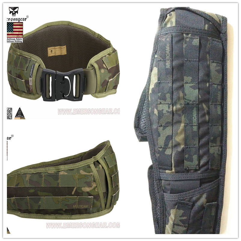 EMERSON Tactical Padded Molle Waist Belt Hunting Battle Belt Airsoft 1000D Nylon Molle Combat Army Cummerbunds For Mens EM9086 airsoftpeak military tactical waist hunting bags 1000d outdoor multifunctional edc molle bag durable belt pouch magazine pocket