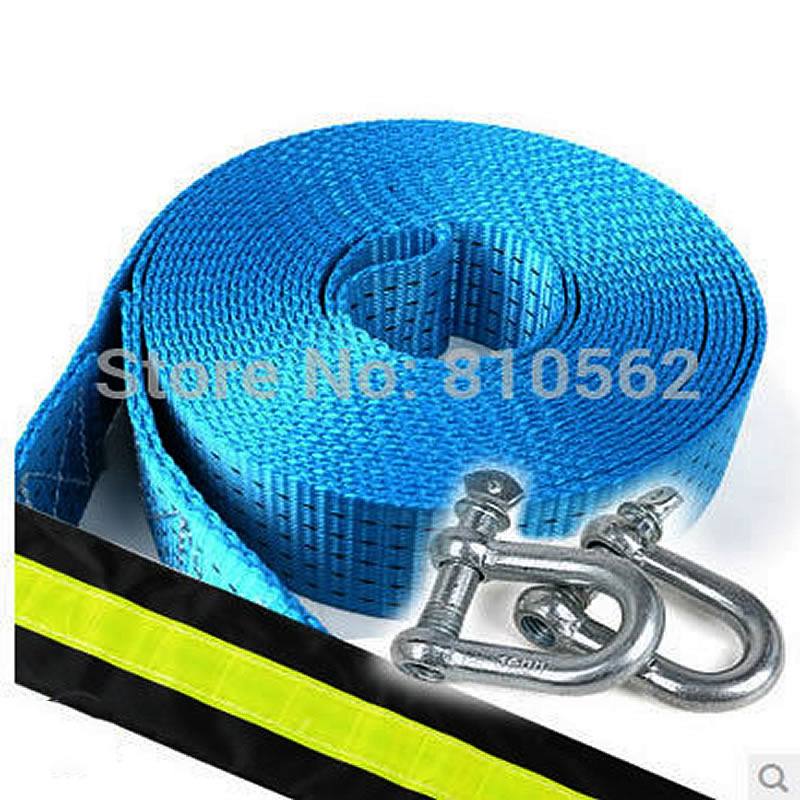 Free shipping Z47 thickening 3 meters 7-8 Tons car towing rope pulling rope trailer belt off-road Truck/Car Tow Rope Strap/Belt tirol 13 to 7 pin adapter trailer 12v towbar towing caravan truck electrical converter n type plastic
