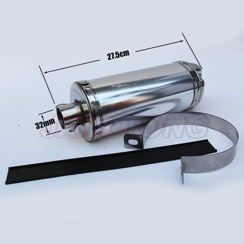 цена на motorcycle pit dirt Bike off-road T8 big stainless steel exhaust pipe exhaust Muffler 32mm fit BOSUER T8 free shipping
