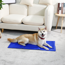 High Qulity Self-Cooling Pet Dog Summer Mat Canine Soft Rapid Cooling Durable Easy Clean Cat Blue Cooler Cushion House Bed