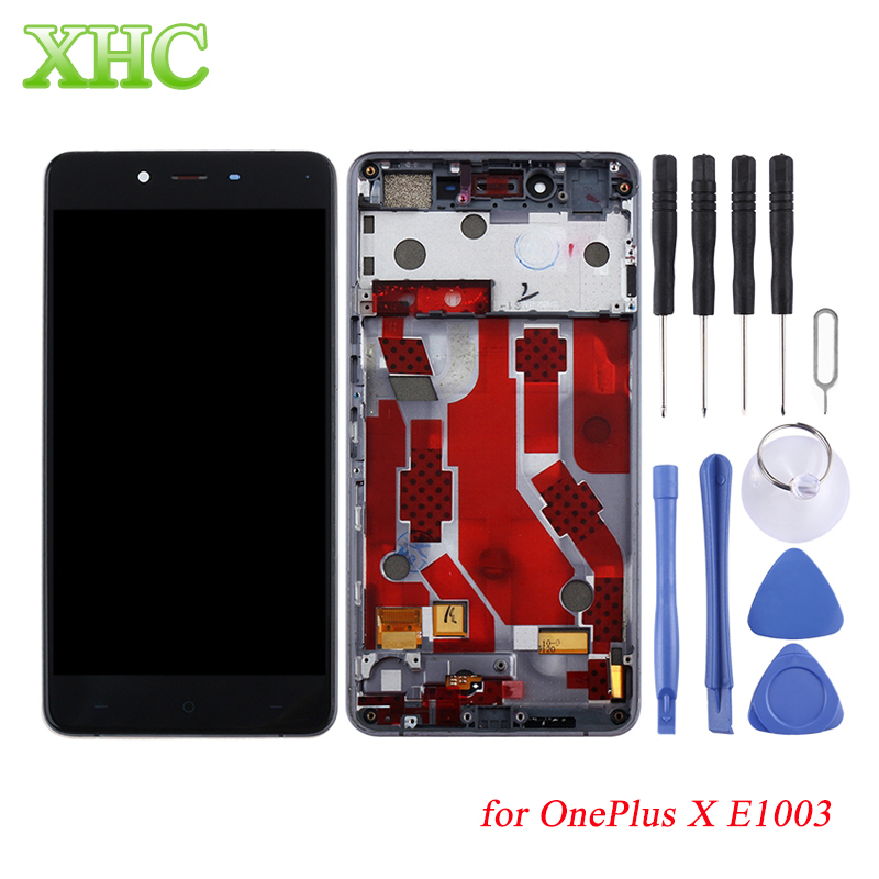 For OnePlus 3T 5 LCD Screen Digitizer Full Assembly with Frame for OnePlus X E1003 Mobile Phone