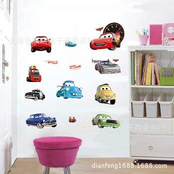 Movie CARS Wall Stickers Boys Lightning McQueen Kids Bedroom Decor Decals TC1088