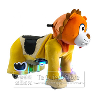 Mall Rental Coin Operated 12V Battery Drive Electric Motorized Cute Plush Animal Kiddie Ride