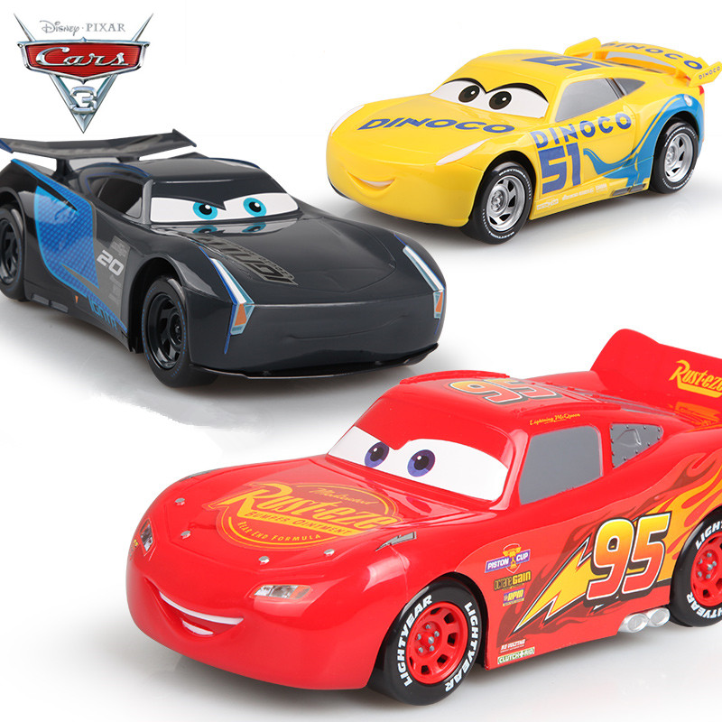 2017 new disney pixar cars 3 mcqueen jackson cruz 22cm carros juguetes pull back cars 3 for - Juguetes disney cars ...