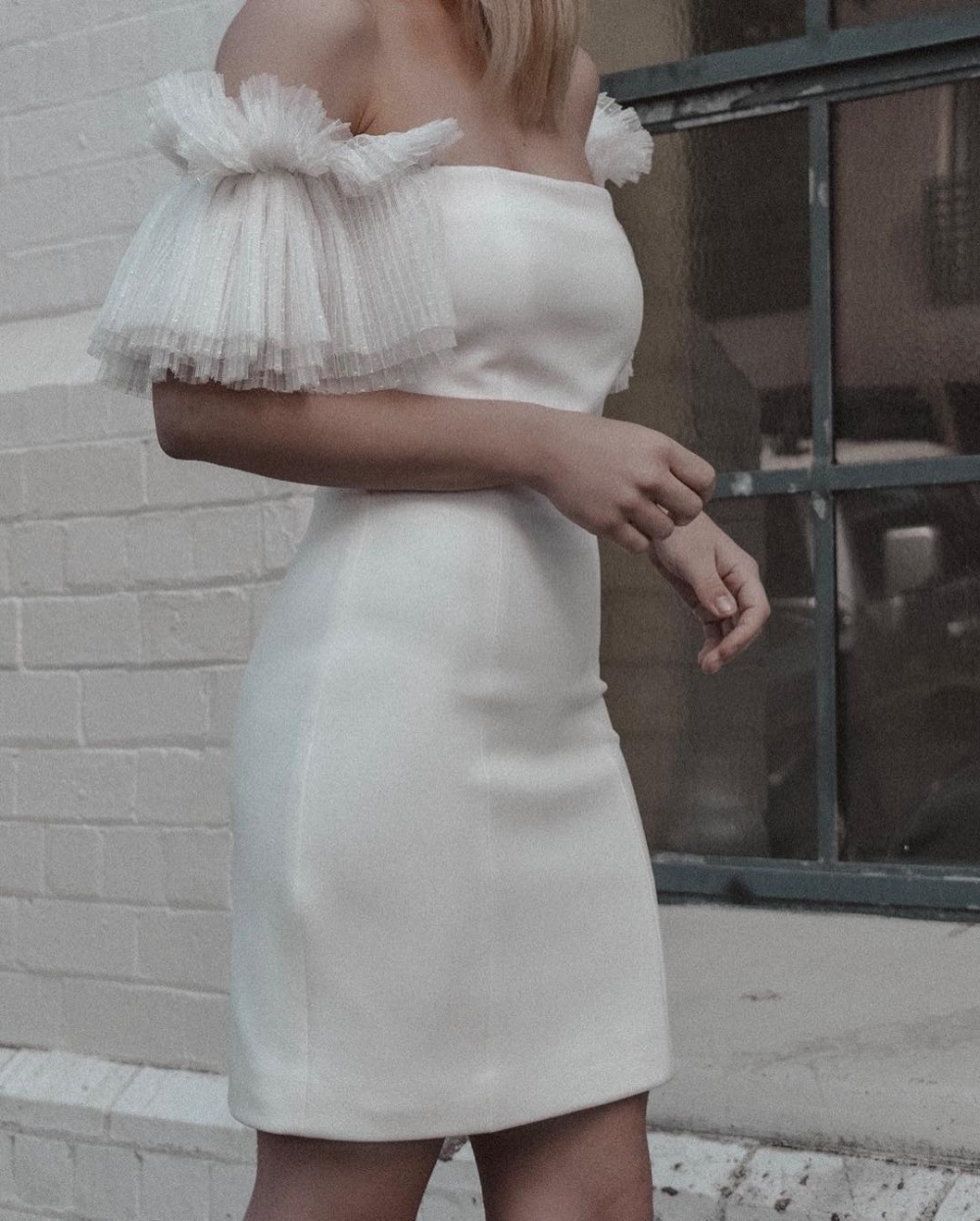 2019 nouveau chaud femmes élégant mode Slash cou Bandage robe maille manches moulante Bandage robe dos nu parti Club robe F-83