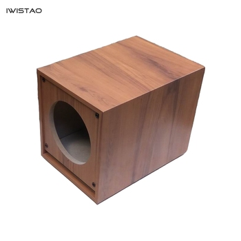 IWISTAO HIFI 8-inch Subwoofer Empty Cabinet Passive Wooden Speaker Enclosure HDF Board DIY