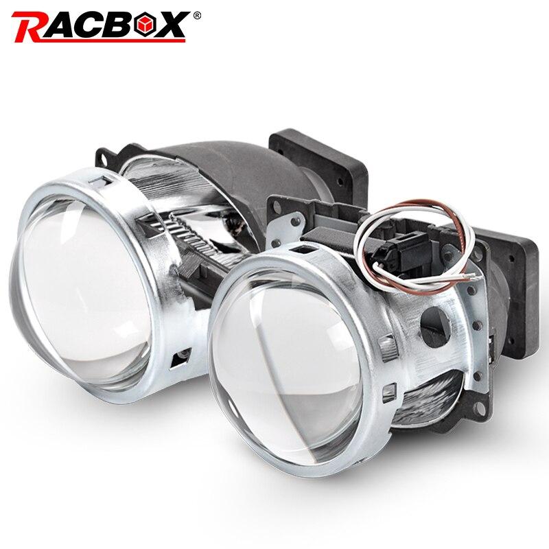 RACBOX 2 pièces 3 pouces rond Style Q5 Koito Projectore Len HID bi-xénon LHD RHD pour D1S D2S D3S D4S phare de modification ampoule xénon