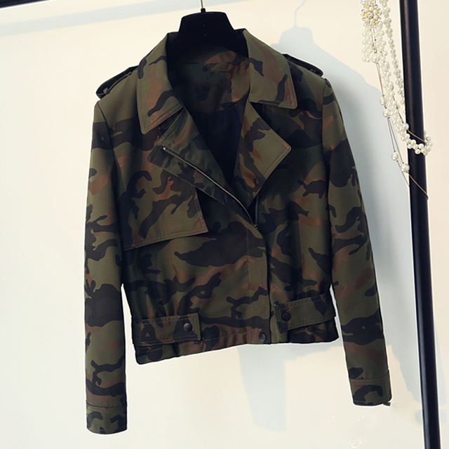 Aliexpress.com   Buy Fashion Women Jacket and Coats Free Shipping Military  Printed Women Clothes European and American Style Spring Coat Fashion C486  from ... 749eaa4f01