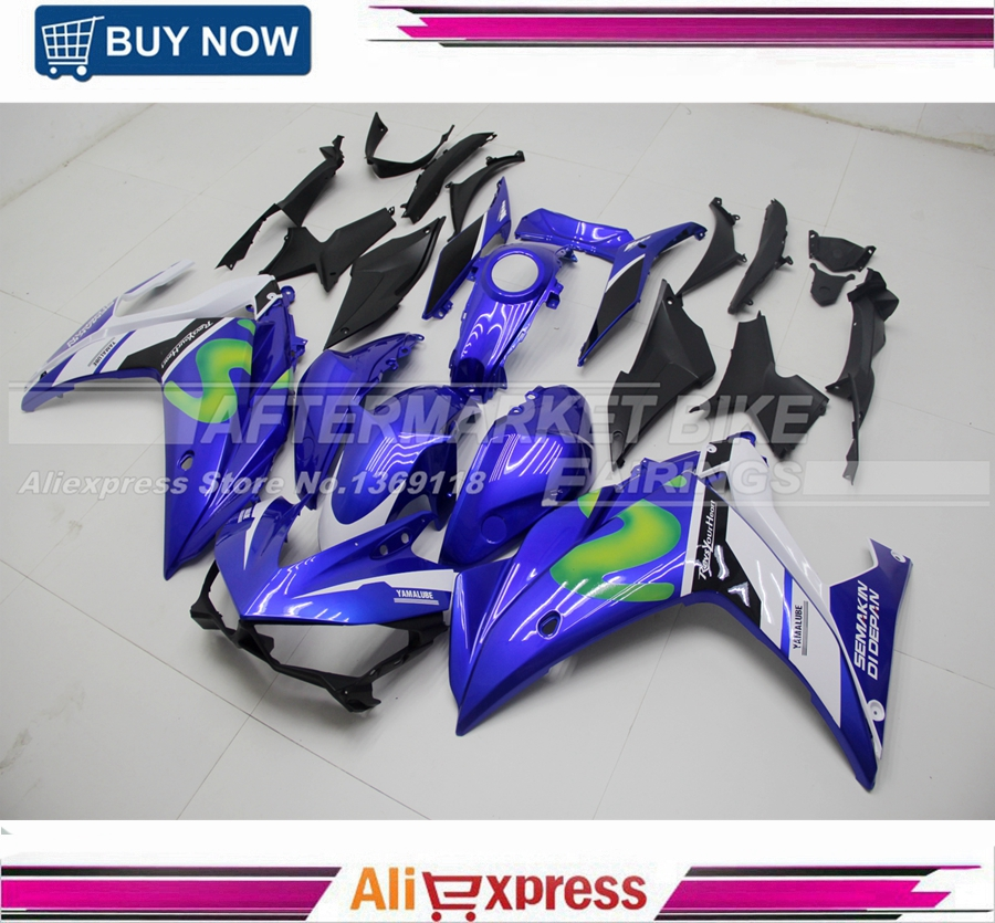 Movistar Color ABS Motorcycle Aftermarket Fairing Replacement For Yamaha YZF R25 R3 2015 2016 Bodywork With Full Tank Cover