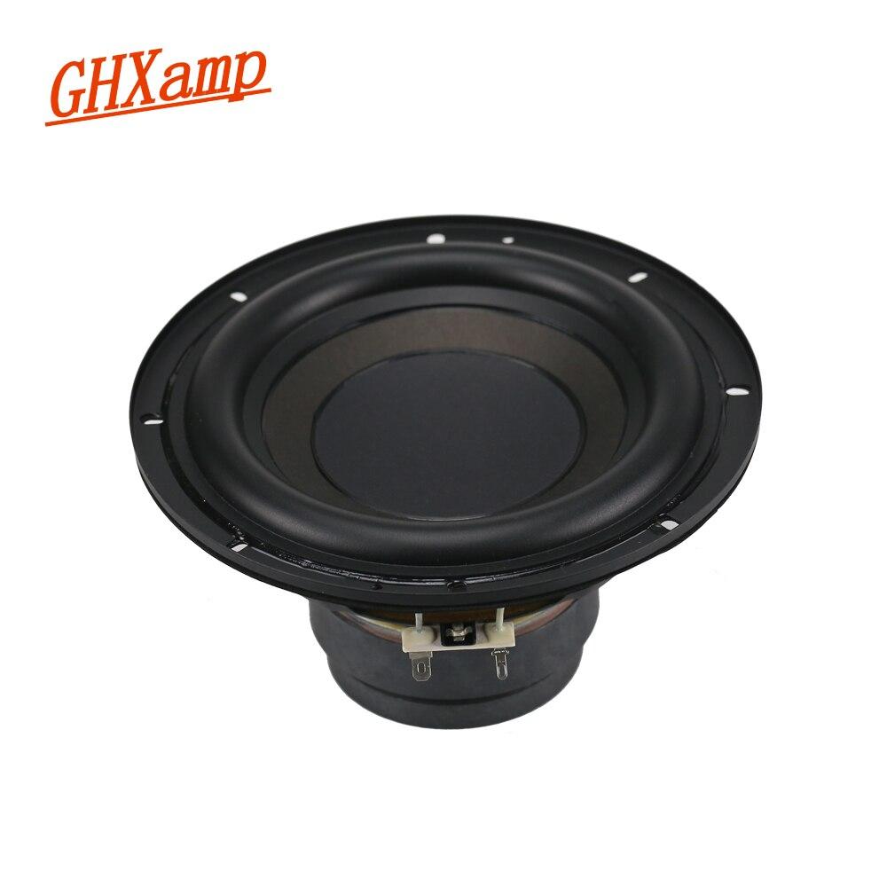 GHXAMP 7 pouces Subwoofer haut-parleur unité 4ohm 100 W Super basse double magnétique longue course 188mm haut-parleurs large bord en caoutchouc 1 pc