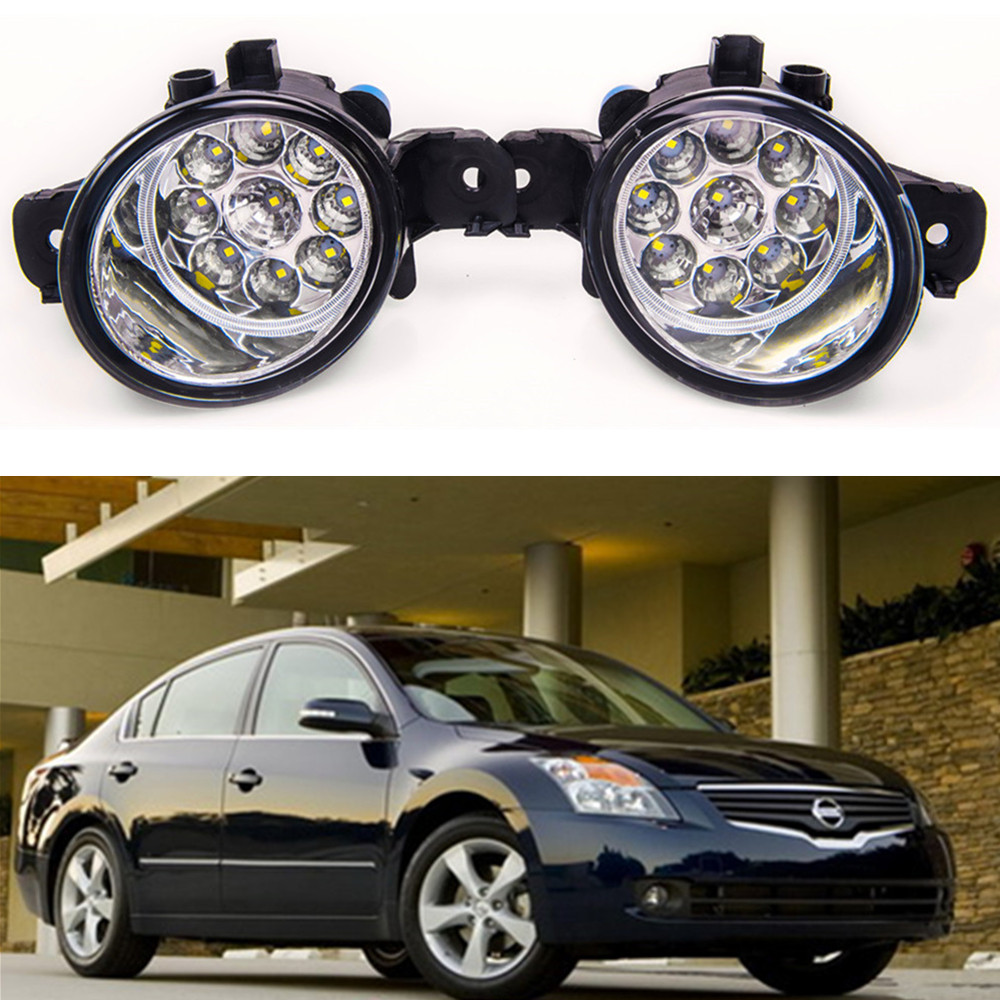 For NISSAN ALTIMA 4DRSEDAN 2008-2014 Car styling front bumper LED fog Lights high brightness fog lamps 1set кабель переходник 0 2м vcom telecom mini displayport vga vhd6070
