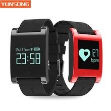 Водонепроницаемый OLED Часы Здоровья Сердечного Ритма Браслет DM68 Спорта Шагомер Монитор Артериального Давления Call/SMS Напоминание для IOS Android