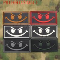 SealTeam Smiley Face Morale Military Tactics 3D PVC Patch Badges