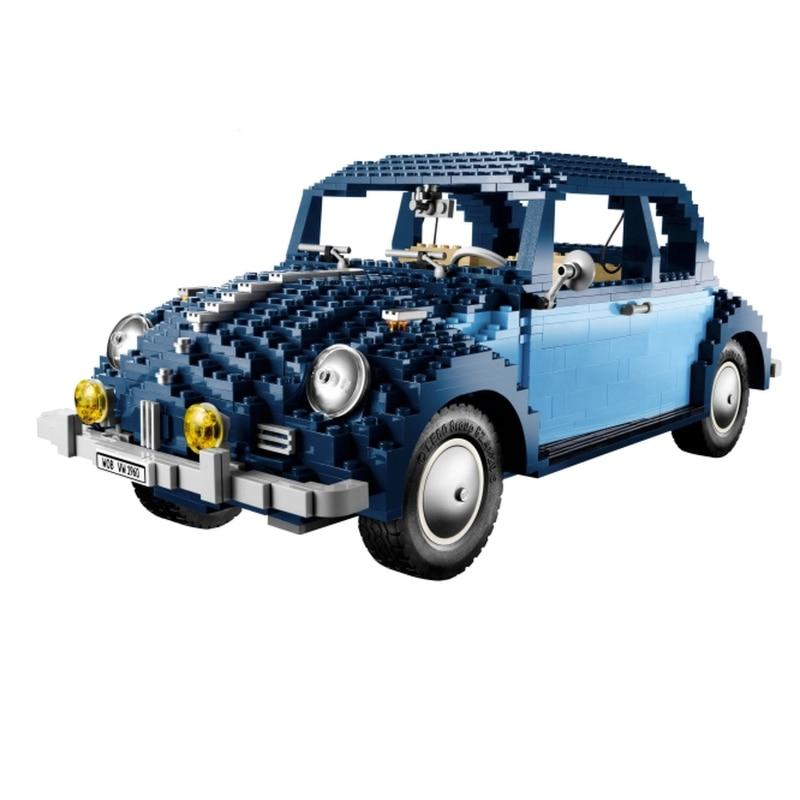 Lepin 21014 Volkswagen Beetle building bricks blocks Toys for children Car Racers Car Gift Bela 10187 цена 2017