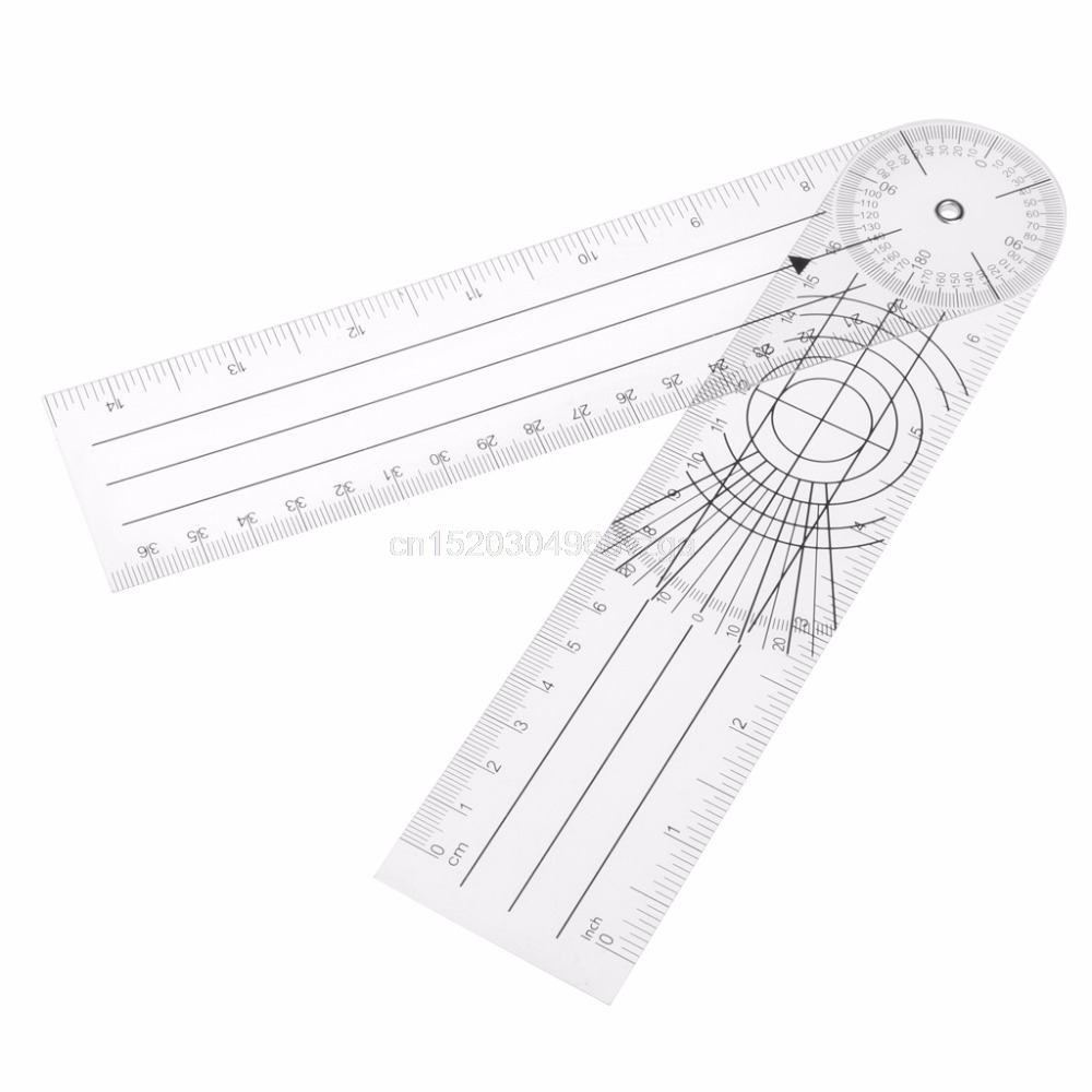Userful Multi-Ruler 360 Degree Goniometer Angle Medical Spinal Ruler CM/INCH Drop ship