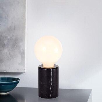 מודרני נורדי זכוכית שולחן מנורות חדר שינה ליד מיטת קריאת מנורת שולחן עיצוב הבית LED שולחן אורות E27 Lamparas תאורה קבועה