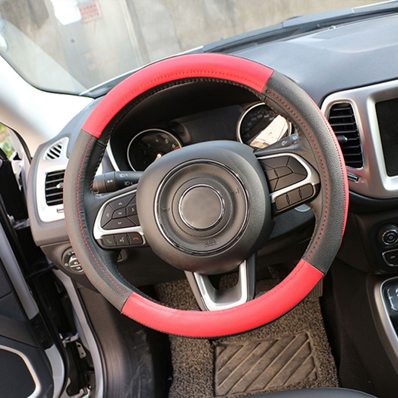 1 Piece Pu Leather Car Steering Wheel Protection Cover Steering Covers For Jeep Compass 2016 2017 Renegade 2015 2016 2017 Car