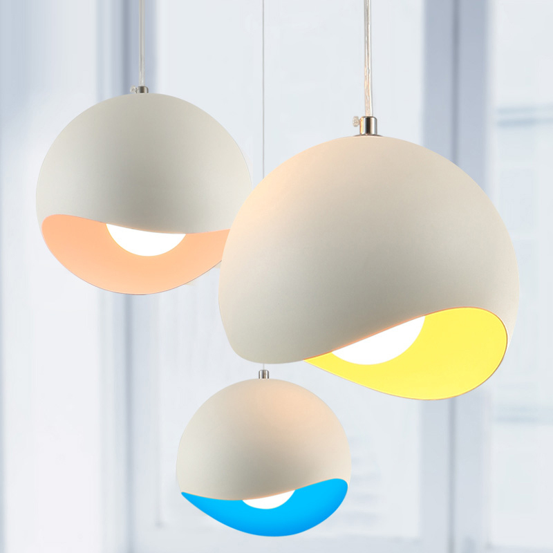 New Modern Art Colored Pendant Lights Kitchen Restaurant
