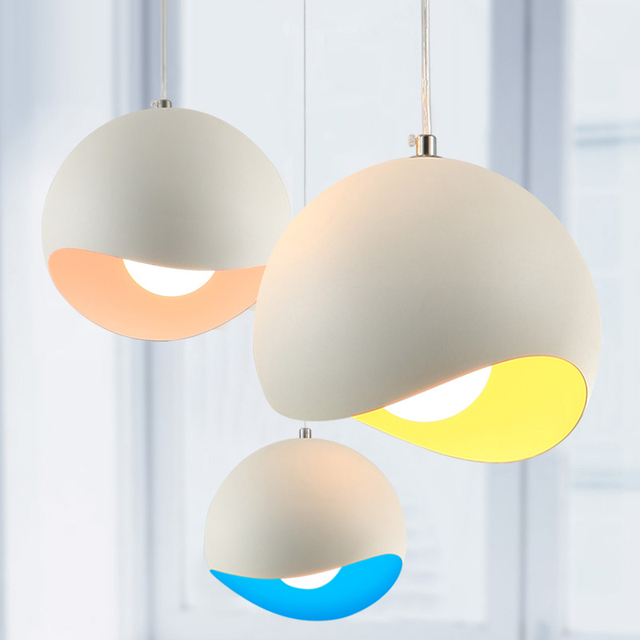 New Modern Art Colored Pendant Lights Kitchen Restaurant Decorative Lamps Hanging Light Fixtures For Dinning Room