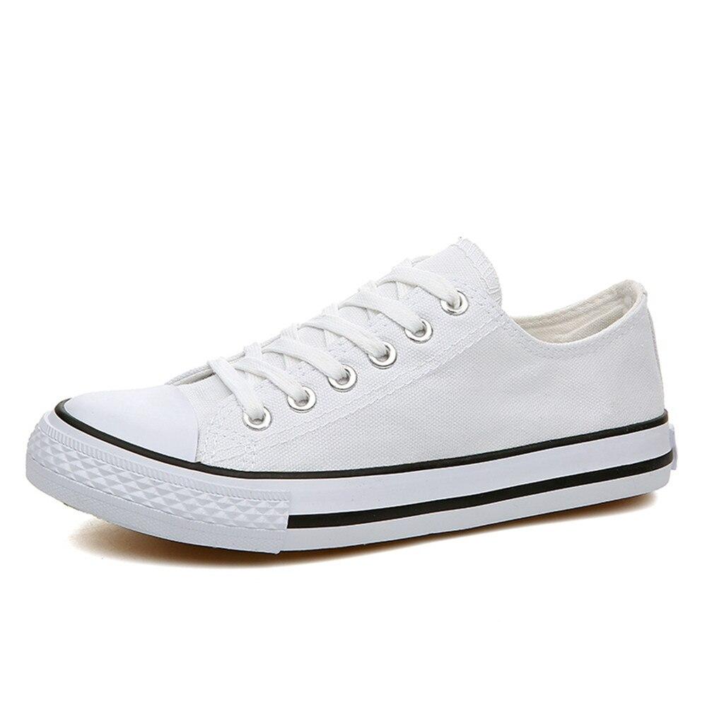 De Zapatos Casuales Alpargatas Unisex 4 white Chaussure Lona Colores red 66216 Planos blue Con Black Cordones 66216 Hombres 66216 Para Homme Mujer 66216 qEtEY