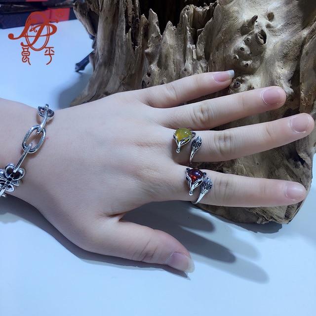 Фото женское кольцо из тайского стерлингового серебра 925 пробы с