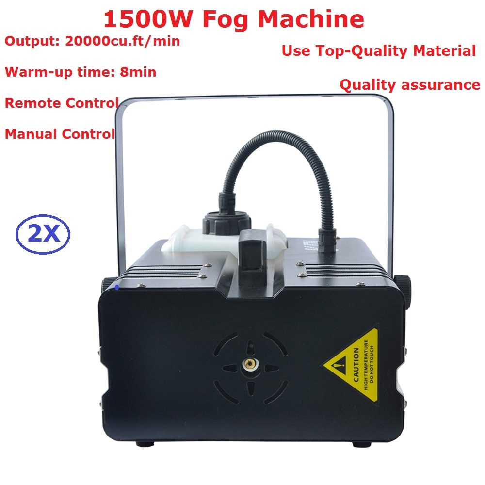 2XLot Remote Control 1500W High Power Smoke Machine, Fog Machine Professional Stage Disco Lighting Equipments Fast Shipping