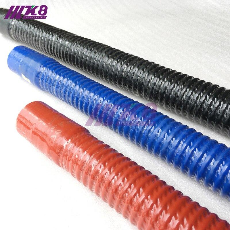 ID: 60 MM 65 MM 75 MILÍMETROS substituir auto dobrar tubo de silicone mangueira de borracha para tubos de aço (Comprimento: 400mm500MM 600 MILÍMETROS 800 MILÍMETROS) Vermelho/Azul/Preto