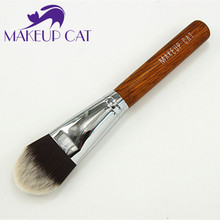 Brand makeup cat Large Size Synthetic Hair Flat Foundation Brush Cosmetic Beauty Makeup Tool Powder Foundation Makeup Brushes