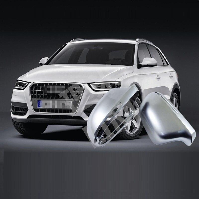 Pour Audi A4 B8 8 K A5 8 T A6 4F C6 A8 D3 4E Q3 8U ABS chromé mat porte latérale miroir aile miroir couverture remplacement accessoires de voiture