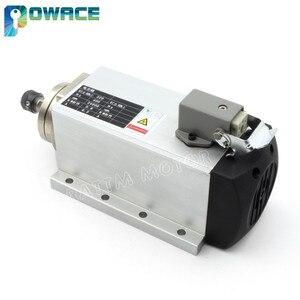 Image 2 - Motor de husillo refrigerado por aire cuadrado para enrutador CNC, 0,8 kW, ER11, 24000rpm, 400Hz, 6,5a