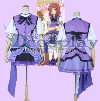 Love Live! School Idol Project Nishikino Maki Women Cos Anime Cosplay Costume Lolita Dress