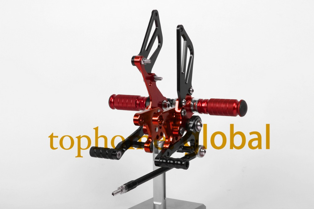 Free Shipping Motorcycle Black&Red CNC Rearsets Foot Pegs Rear Set For Suzuki SV650 SV650S motorcycle foot pegs 王秋石《微观经济学》习题集[microeconomics]