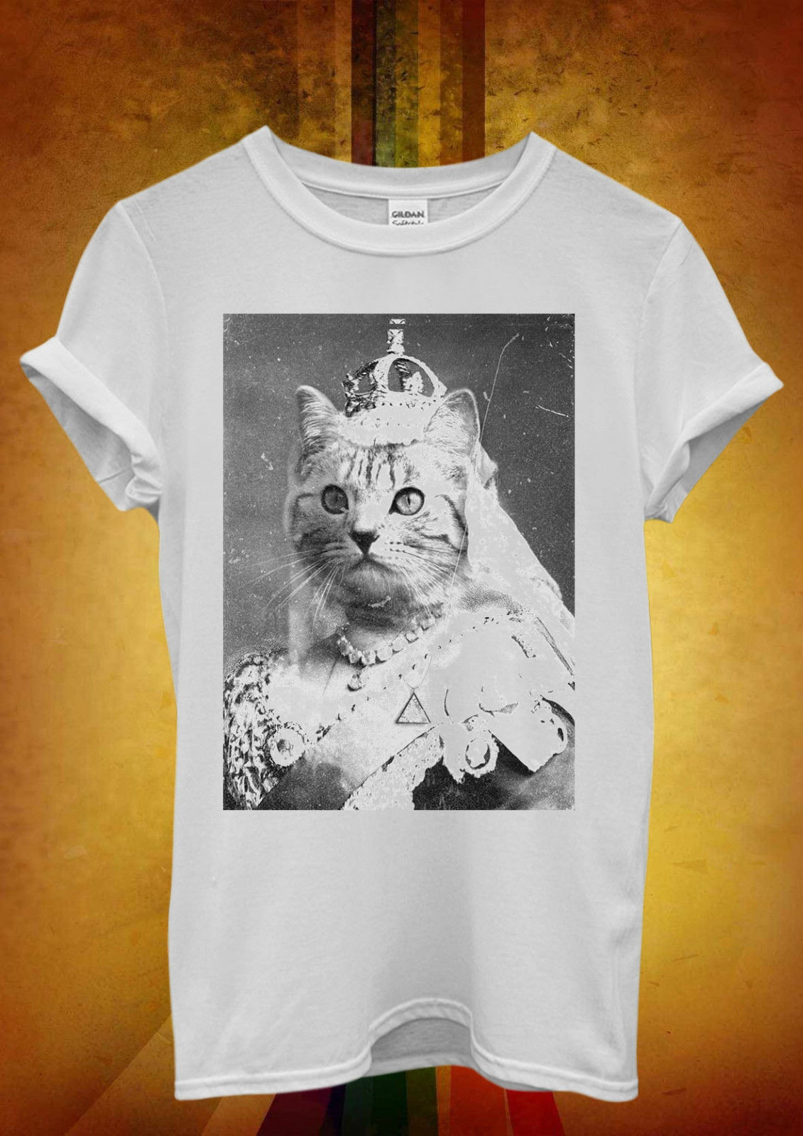 Cat Queen Kitten Meow Funny Cool Men Women Unisex T Shirt  Vest 1042 New Shirts Tops Tee