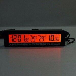 Image 2 - ONEWELL 3 в 1, высококачественные цифровые ЖК часы, экран, автомобильные часы, термометр, напряжение, двухцветные светящиеся часы