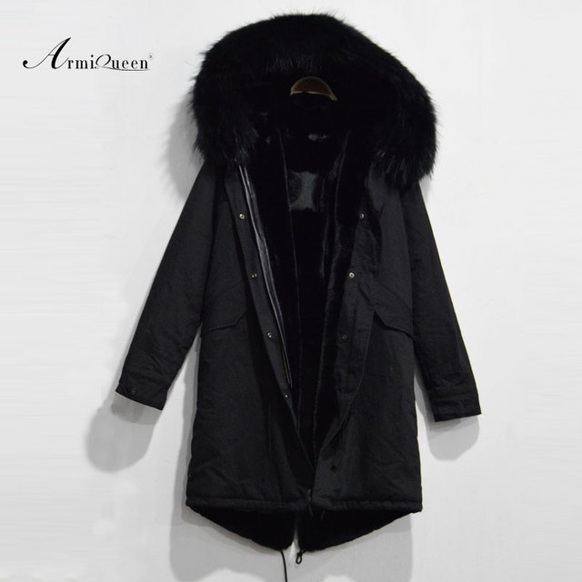 Long style winter free shipping women jacket with faux fur lining,real raccoon fur hood lady parka 2